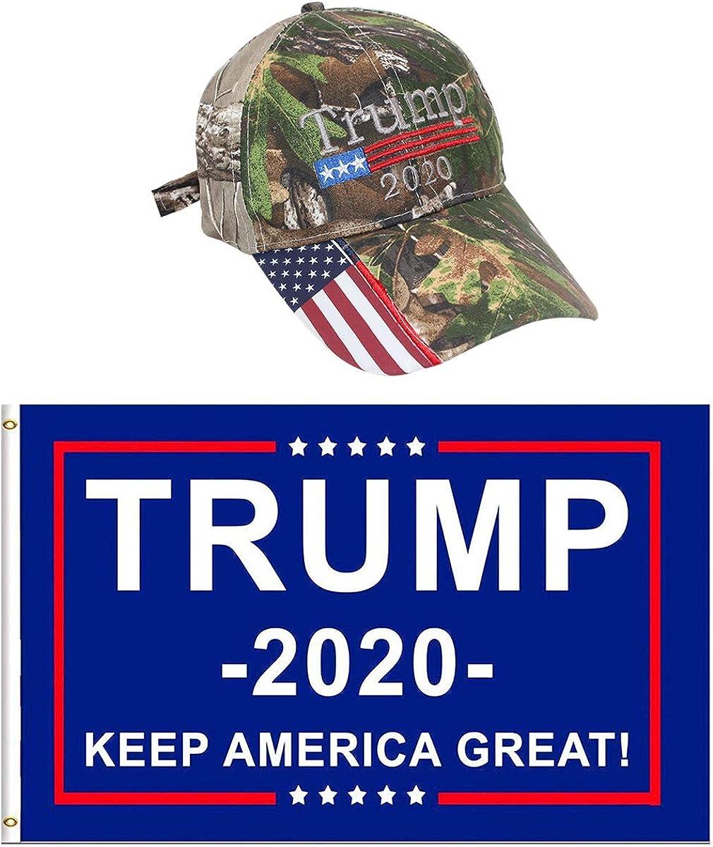 Donald Trump Cap Keep America Great Hat President 2020 Flag Camoflauge Baseball