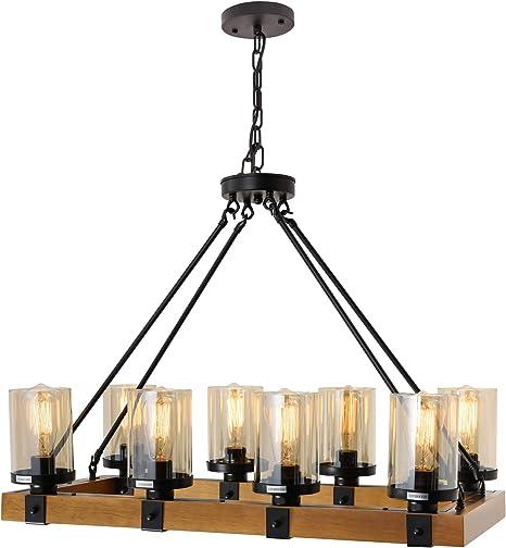 Chandeliers For Dining Rooms Rustic Light Fixture Ceiling Hanging Lighting Metal