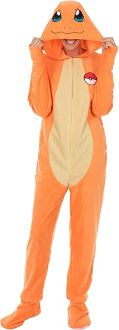 Pokemon Charmander One Piece Union Suit Pajama for Men