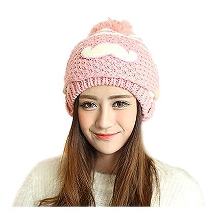 73ec859f13e Amazon.com  Hat - TOOGOO(R)Women Lady Winter Crochet Beard Beanie Mustache  Mask Face Warm Ski Knit Hat Cap pink  Sports   Outdoors