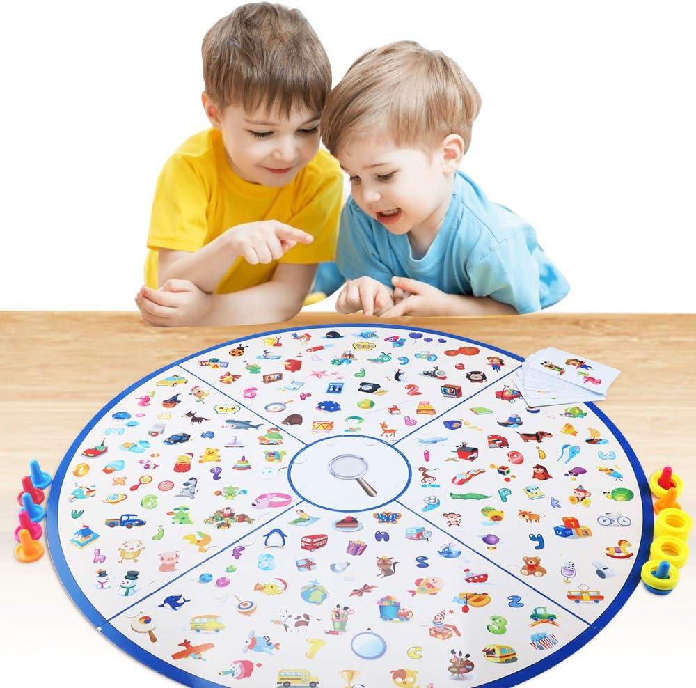 CENOVE Juguetes de Mesa para niños y niñas, Juego de Tarjeta de Memoria Juego de Mesa para niños Fiesta Familiar, niños de 3,4,5,6,7 años: Amazon.es: Juguetes y juegos