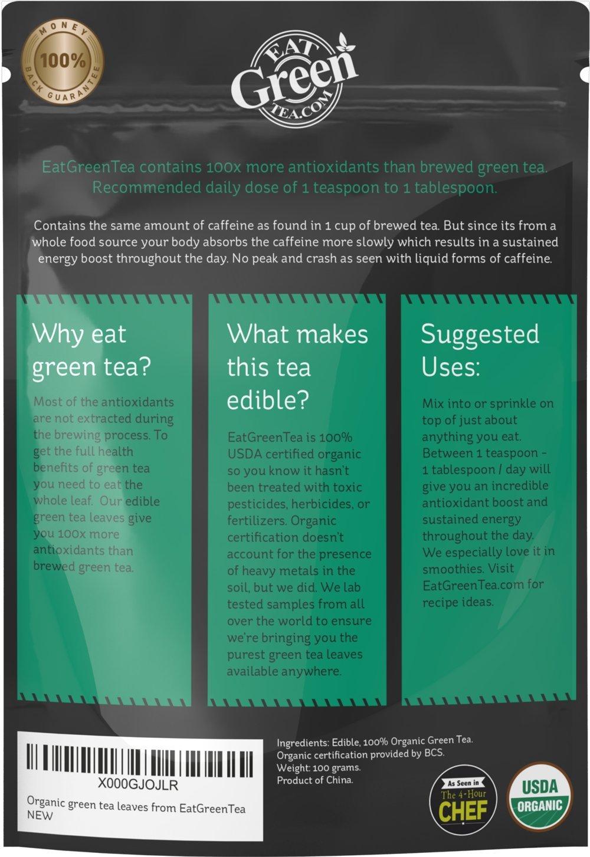 Amazon.com : Organic Matcha Green Tea Leaves - Antioxidant Whole ...
