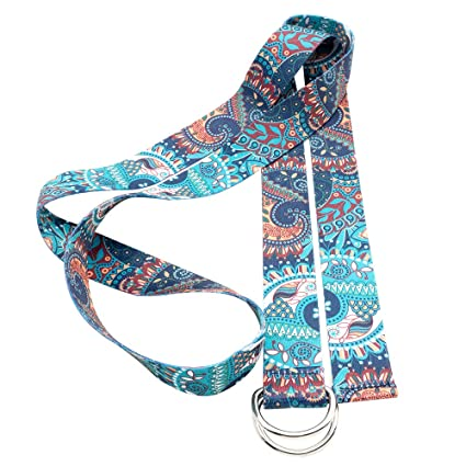 Innovahome Yoga Artists Design-Yoga Strap (6ft), Luxurious Design, Premium Fabric, Solid and Eco Printed, Adjustable Flexibility for Yoga