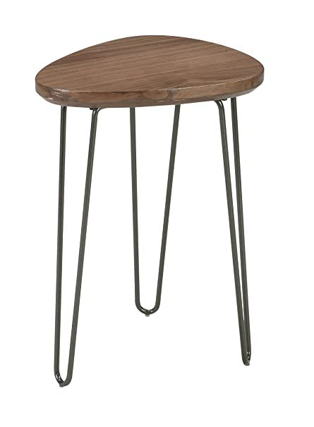 Ashley Furniture Signature Design   Courager Contemporary Triangle Chair  Side End Table   Brown/Black