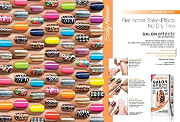 10 Pack Sally Hansen Salon Effects Real Nail Polish Strips Some Doubles