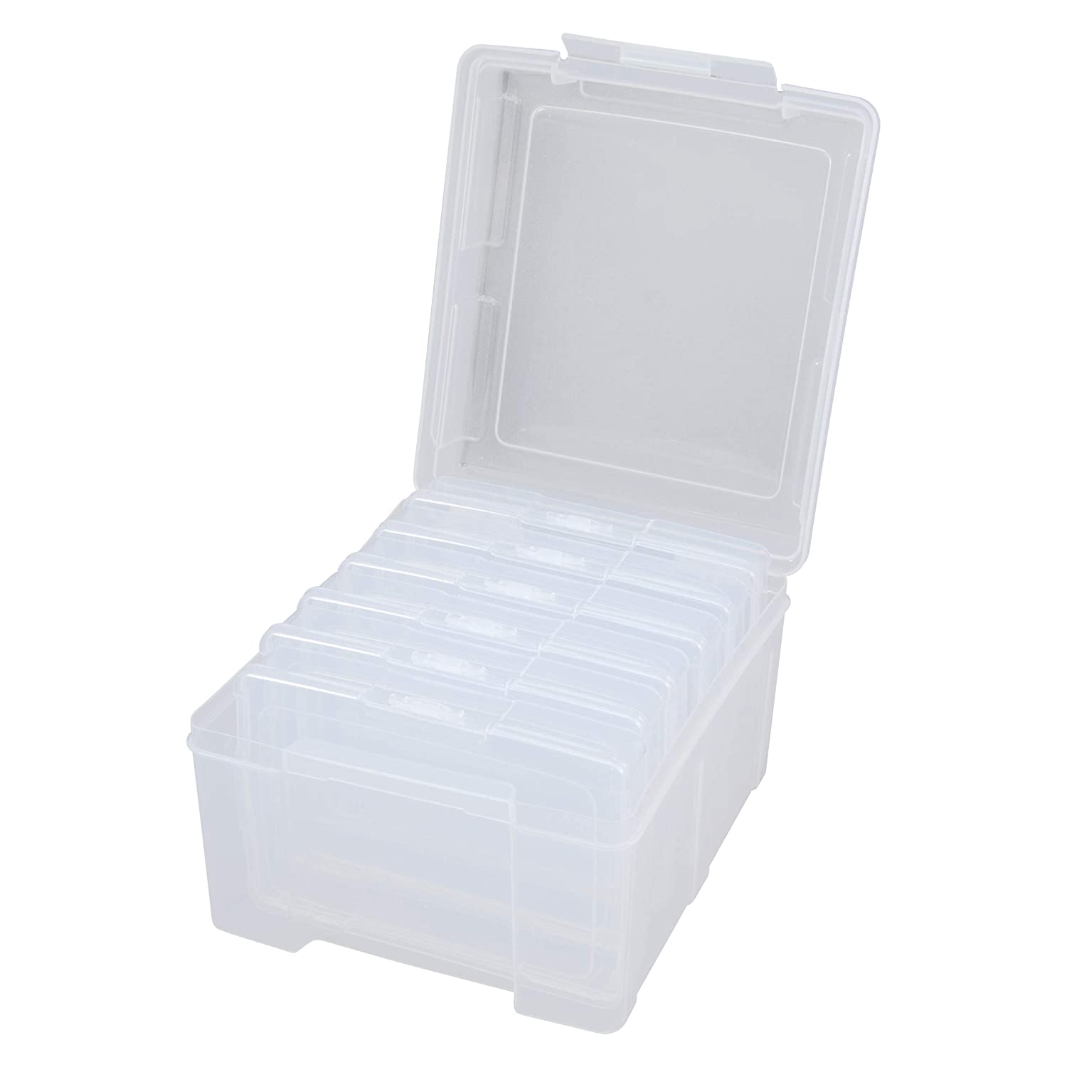 Embellishment and Craft Storage Containers Holds up to 600 Photos Advantus Photo Keeper Box with 6 Individual Clear Photo Cases 61989 Advantus Corp.- Office