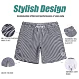 MaaMgic Mens Quick Dry Striped Swim Trunks with