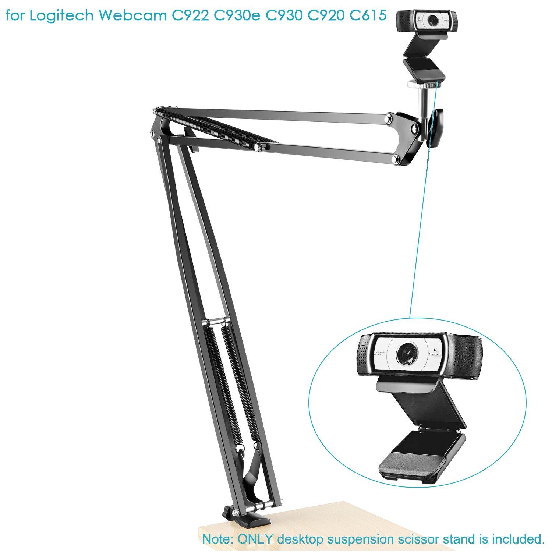 Neewer Adjustable Desktop Clamp Suspension Boom Scissor Arm Stand Holder for Logitech Webcam C922 C930e C930 C920 C615 Load up to 4.4 pounds//2 kilograms NW-39 360 Degree Rotation Swivel Mount