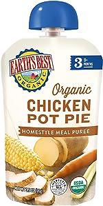 Earth's Best Organic Stage 3 Baby Food, Chicken Pot Pie, 3.5