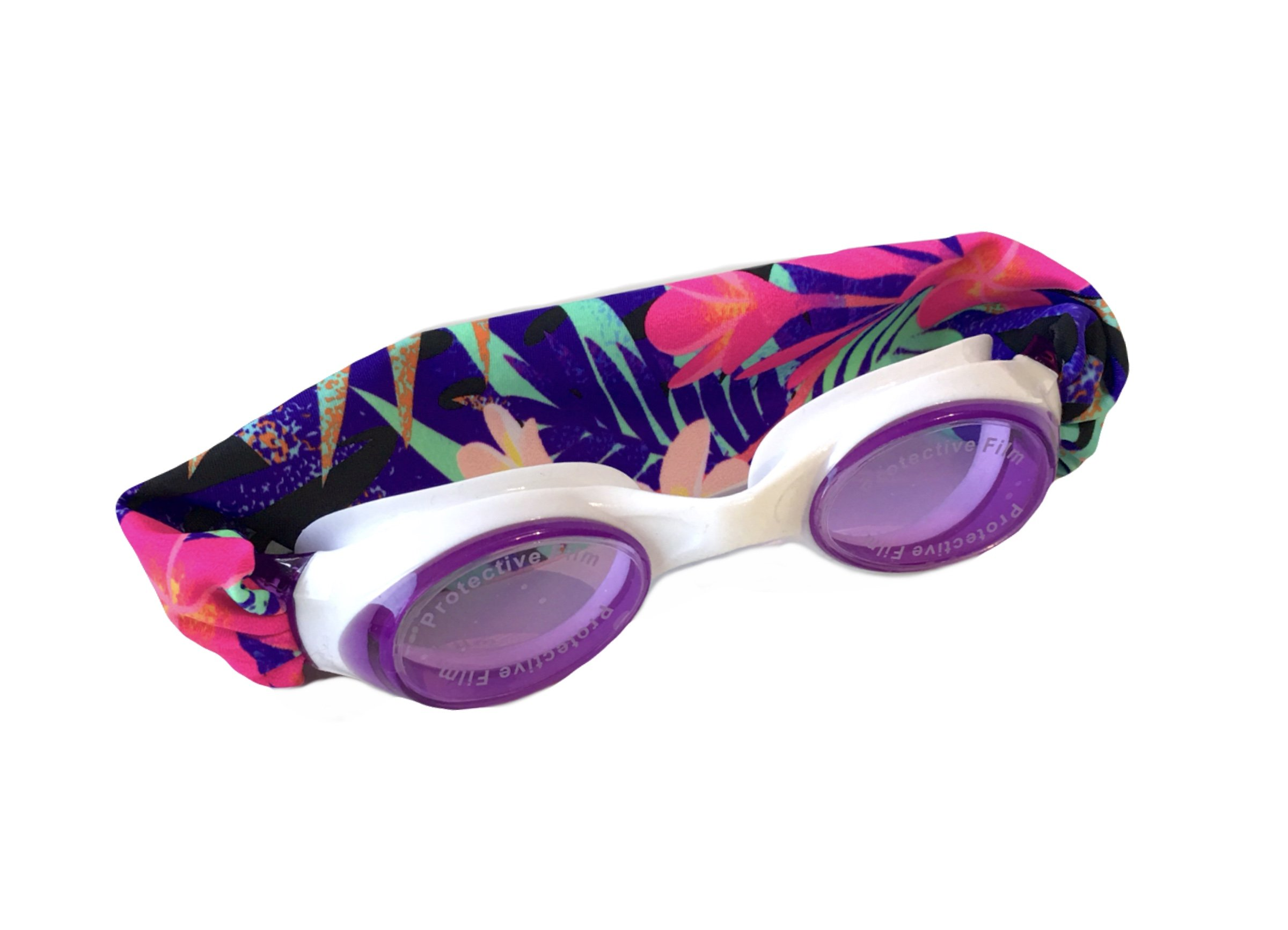Splash Fiji Swim Goggles - Fun Fashionable Comfortable - Fits Kids & Adults - Won't Pull Your Hair - Easy to Use - High Visibility Anti-Fog Lenses - Patent Pending