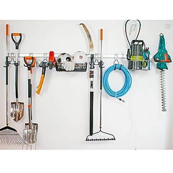 Geräteleiste Gerätehalter Werkzeugleiste Halter 80cm Aluminium 5-teilig