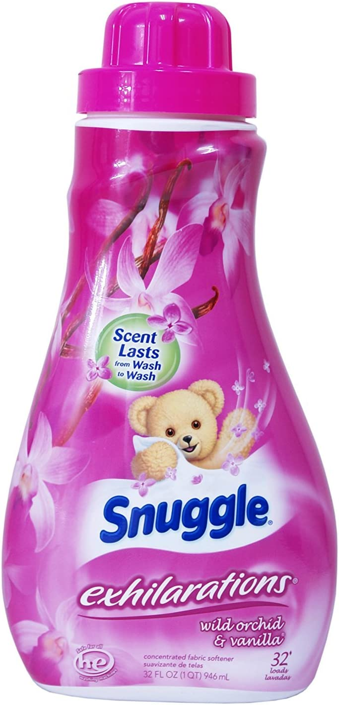Snuggle Exhilarations Fabric Softener, Concentrated/Wild Orchid/Vanilla, 32 Ounce