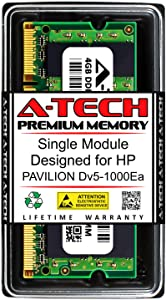 A-Tech 4GB RAM for HP Pavilion DV5-1000EA | DDR2 800MHz SODIMM PC2-6400 200-Pin Non-ECC Memory Upgrade Module