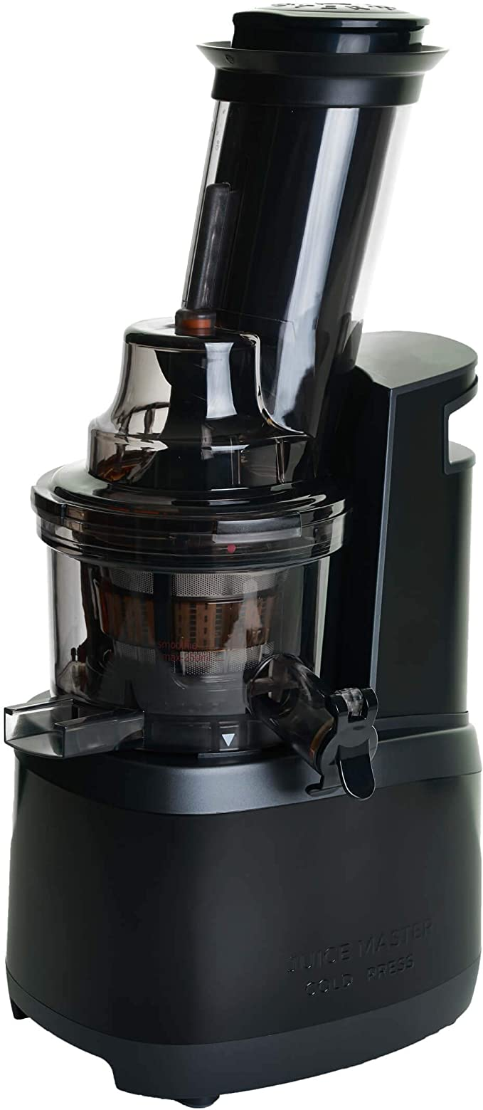 Jason Vale Juice Master Cold Press Juicer Stainless Steel Design and Wide, Angled Chute, Designed to Extract The Maximum Amount of Juice.