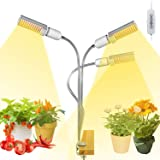 Grow Lights for Indoor Plants Full Spectrum, Elaine 132W Auto ON/Off Plant Grow Light 3/6/12H Timing Function Sunlike Clip On