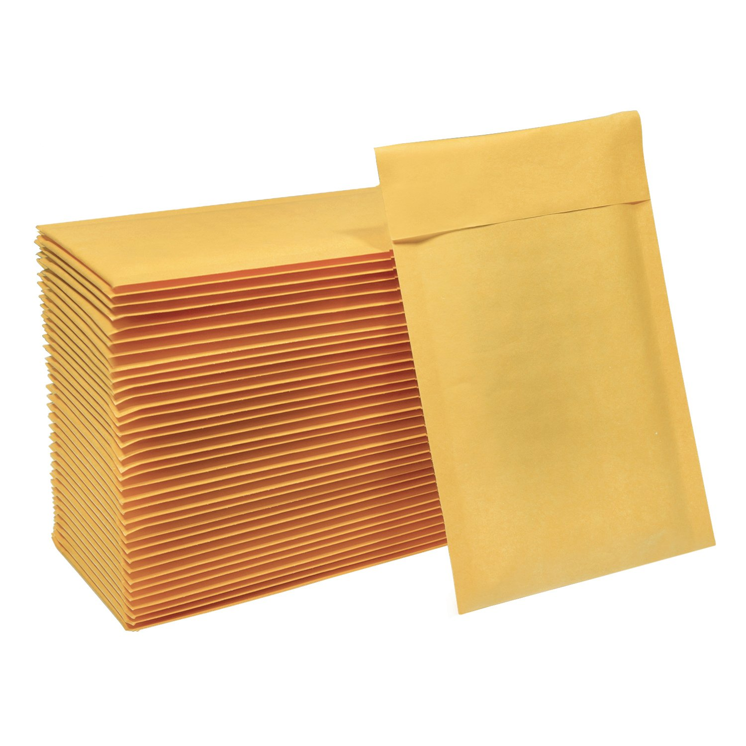 HBlife #000 4x8 Inches Kraft Bubble Mailers Self Seal Padded Envelopes, Pack of 50