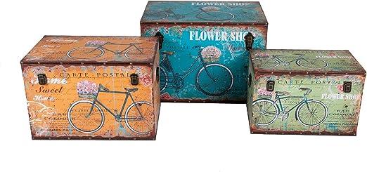 Buri Cofre de Madera Diseño de Bicicleta Vintage Caja de Madera ...