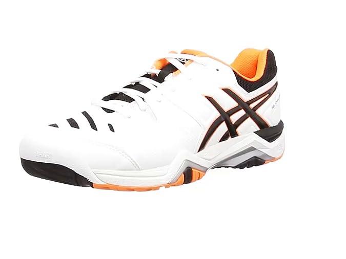 f62c60e1b80d ASICS Gel-Challenger 10, Tennis Hommes - Blanc (White/Onyx/Flash Orange  199), 46 1/2 EU ( 11 UK ): Amazon.fr: Chaussures et Sacs