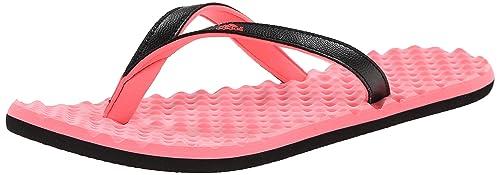 check out ec266 1c3b9 Adidas Performance Womens Eezay Dots W Athletic Sandal, Flash  RedBlackLight Flash