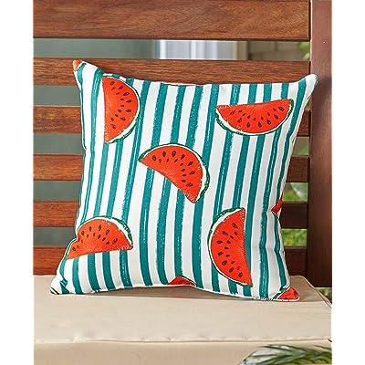LTD. Indoor/Outdoor Summer Fun Pillow, Watermelon: Home & Kitchen