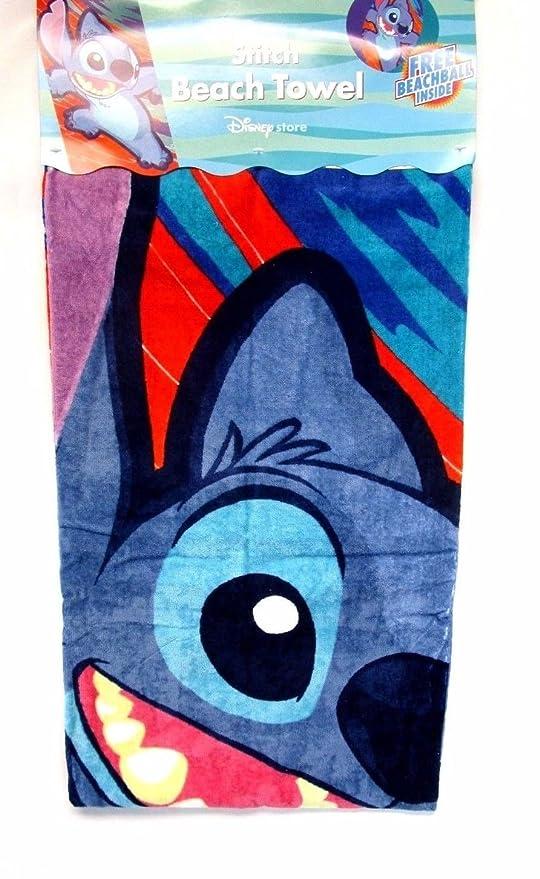 Punto de toalla de playa Disney Lilo y Stitch toalla w/bola de playa