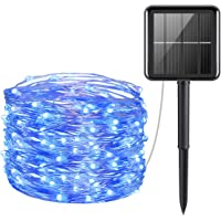 AMIR Solar Powered String Lights, 100 LED Copper Wire Lights, Fairy Lights, Indoor Outdoor Waterproof Solar Decoration…