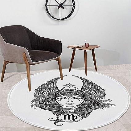 Amazon.com: TecBillion - Alfombra redonda con diseño floral ...