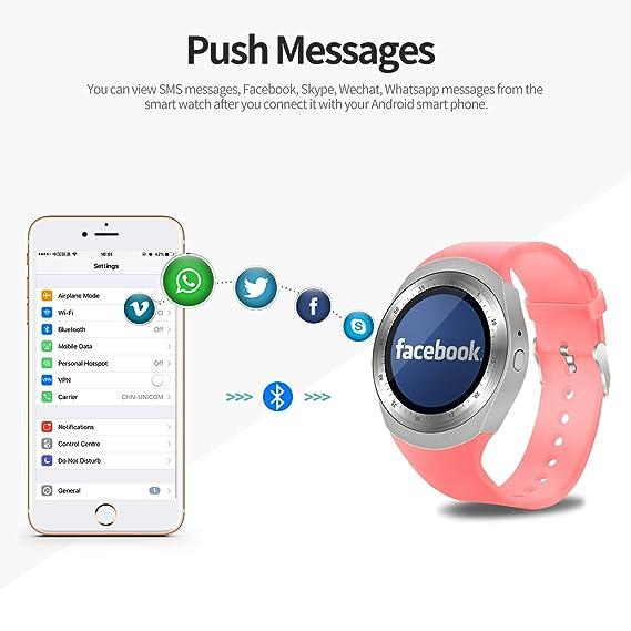 SEPVER Reloj Inteligente Smartwatch para iOS iPhone y Android ...