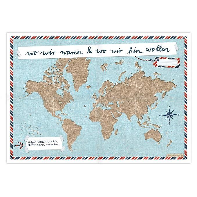 Naher Osten Karte Ohne Beschriftung.Amazon De Eine Der Guten A2 Weltkarte Für Weltenbummler Wir