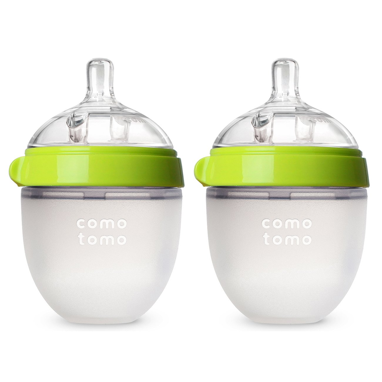 Comotomo Baby Bottle, Green, 5 Ounce (2 Count) by Comotomo (Image #1)