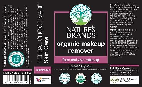 Herbal Choice Mari Organic Makeup Remover, 3.4 Oz Tecnu Extreme Medicated Poison Ivy Scrub (4 oz)