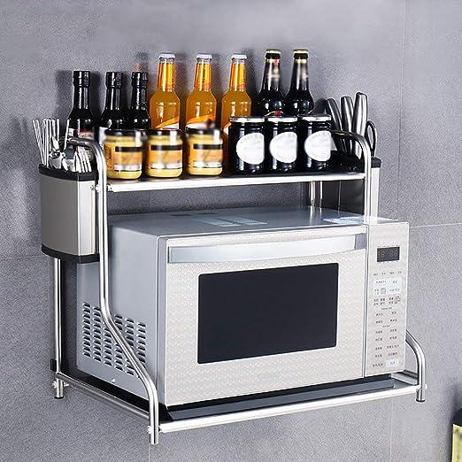 Muebles De Cocina Estante De Acero Inoxidable Microondas Pared De ...