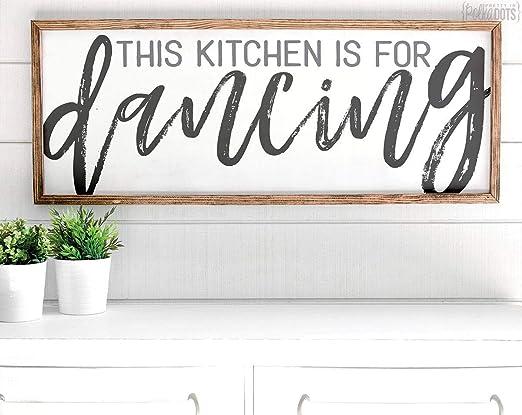 Istihar - Cartel de Madera con Texto en inglés This Kitchen ...