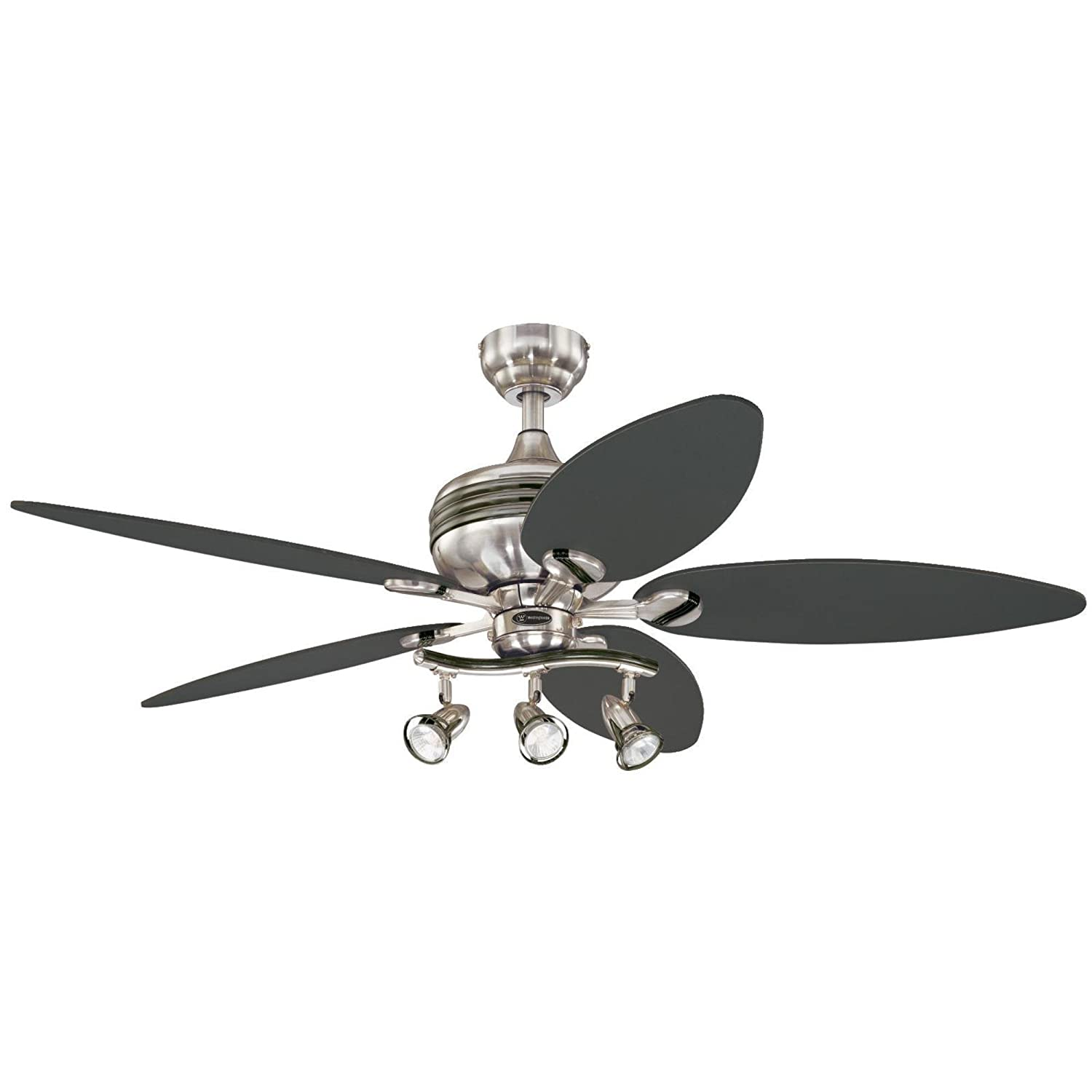 Ceiling fan light kits amazon lighting ceiling fans westinghouse 7234220 xavier ii 52 inch five blade indoor ceiling fan with three spot arubaitofo Choice Image