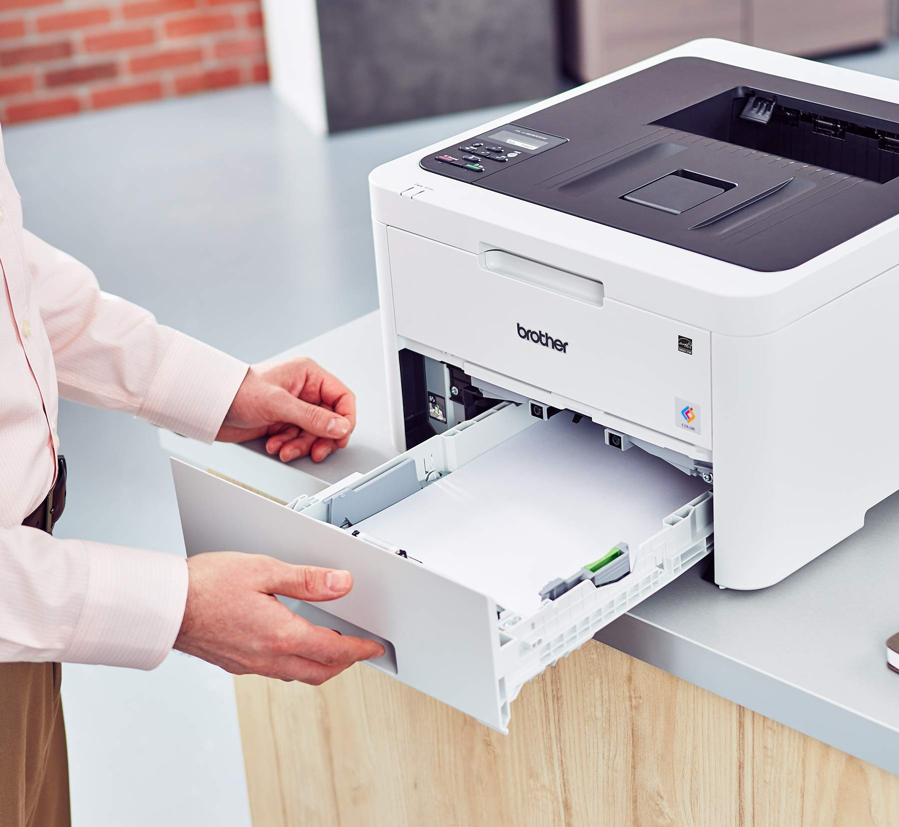 Brother HL-L3230CDW Compact Digital Color Printer Providing Laser Printer Quality Results with Wireless Printing and Duplex Printing, Amazon Dash Replenishment Enabled by Brother (Image #6)