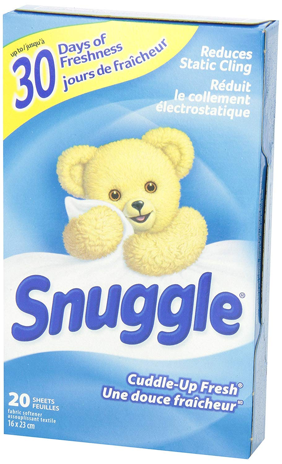 Snuggle Fabric Softner Dryer Sheets, Cuddle Up Fresh Scent, Reduces Static Cling - 480 Count by Snuggle (Image #6)