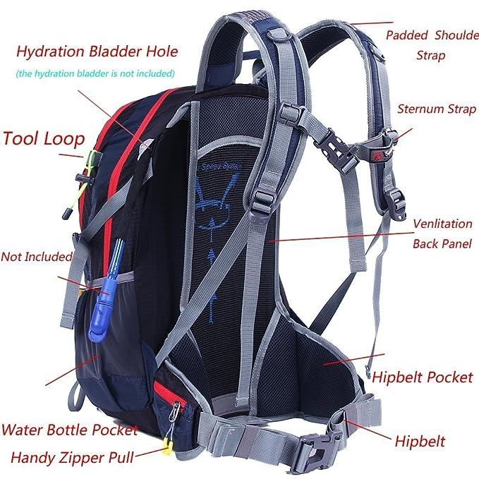 EGOGO 30L al aire libre ciclismo senderismo mochila resistente al agua corriendo mochila Camping con lluvia cubierta S2310 (Verde): Amazon.es: Deportes y ...