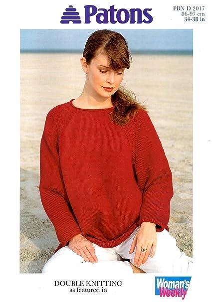 Amazon Patons Raglan Sweater Knitting Pattern In Dk 3438 Bust