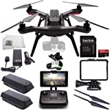 3DR Solo Quadcopter with 3-Axis Gimbal for GoPro HERO3+ / HERO4 with Manufacturer Accessories + Extra 3DR Flight Battery + 3DR Propeller Set + SanDisk 32GB Extreme PRO microSDHC Memory Card + MORE