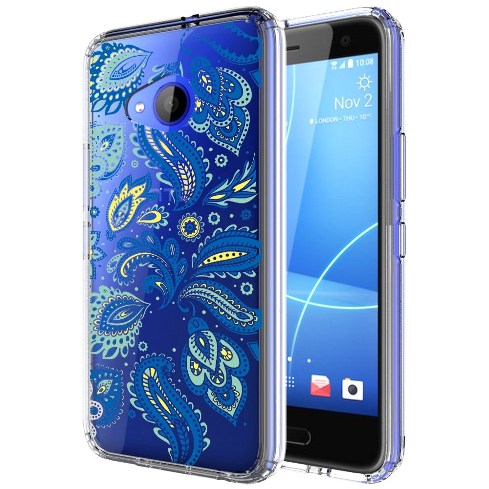 info for afc83 daf60 HTC U11 Life Case, (Not Fit HTC U11), Skmy Shockproof Hard PC+ TPU Bumper  Case Scratch-Resistant Cover for HTC U11 Life (Blue Flower)