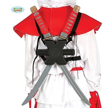 Amakando Katana con Soporte de Espalda | 2 Espadas Samurai ...