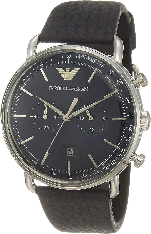 Emporio Armani Reloj Cronógrafo para Hombre de Cuarzo con Correa en Acero Inoxidable