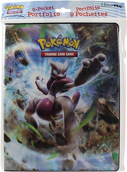 Amazon Com Ultra Pro Pokemon Card 9 Pocket Binder Album Portfolio Breakthrough Featuring Mega Mewtwo X Y Toys Games