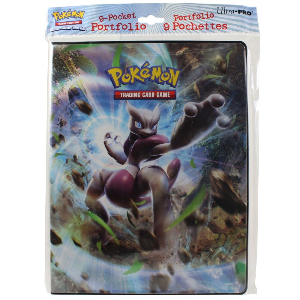 Ultra Pro Pokemon Card 9 Pocket Binder Album Portfolio Breakthrough Featuring Mega Mewtwo X & Y NA