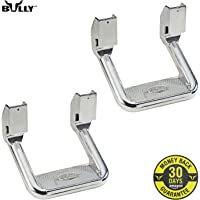 Bully AS-600 Universal Truck Polished Aluminum Side Step Set, 2 Pieces (1 Pair), Includes Mounting Brackets - Fits Various Trucks from Chevy (Chevrolet), Ford, Toyota, GMC, Dodge RAM and Jeep