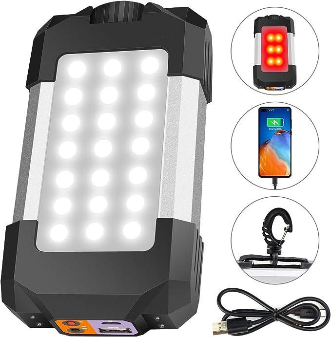 Portable COB+T6 Light Flashlight Outdoor FG Camping Spot Work Lamp Power Bank HO