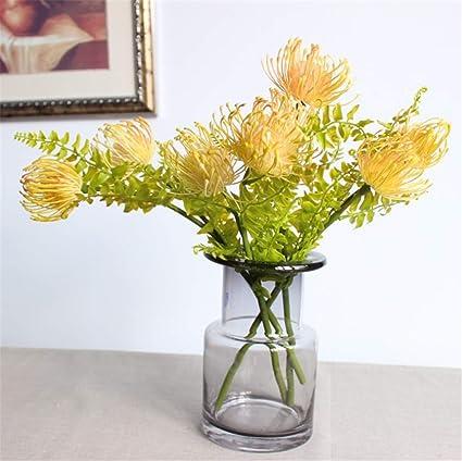 Amazon Com Skyseen 5pcs Artificial Pincushion Flower Fake