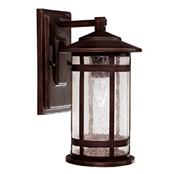 Capital Lighting 9951BB Outdoor Wall Fixture with Seeded Glass
