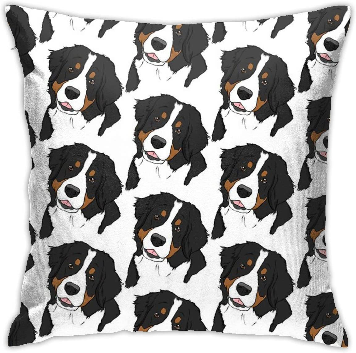 NYF Home Decor Bernese Mt. Dog Square Throw Pillow Cushion Covers Pillow Case, Soft Decorative Pillowcase for Couch Bed