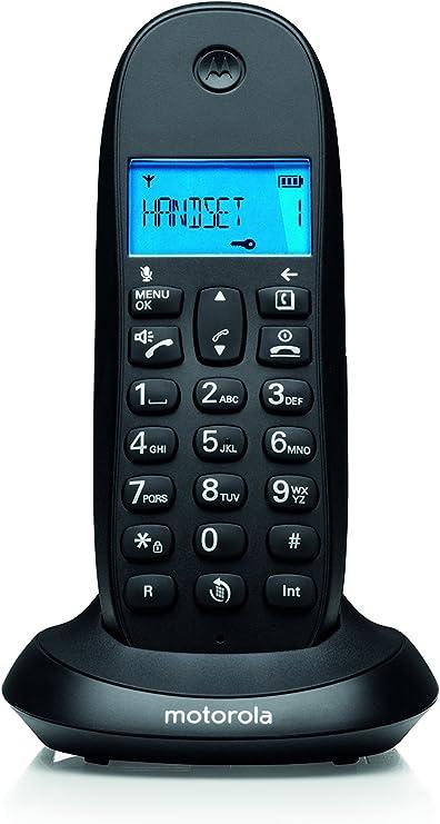 Motorola C1001LB+ - Teléfono fijo, color negro: Amazon.es: Electrónica